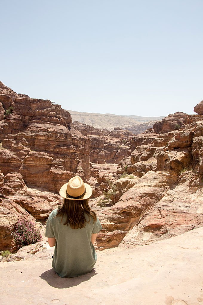 Hiking to the Monastery in Petra, Jordan