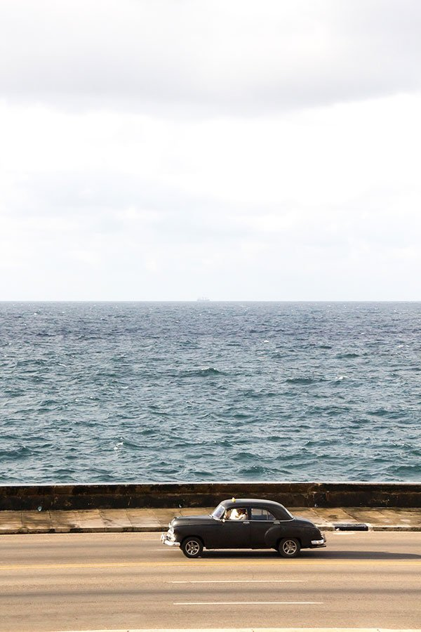 Overlooking the Malecon in Havana, Cuba
