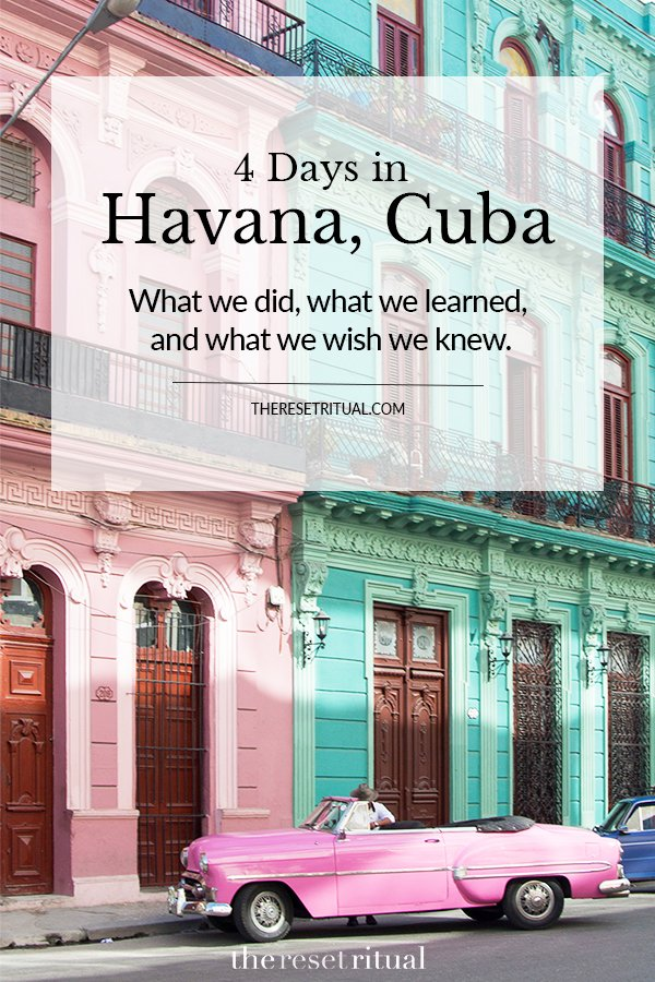 Havana, Cuba travel guide. Things to do in Havana + what you should know before you go. #havanacuba #caribbeantravel #traveldestinations