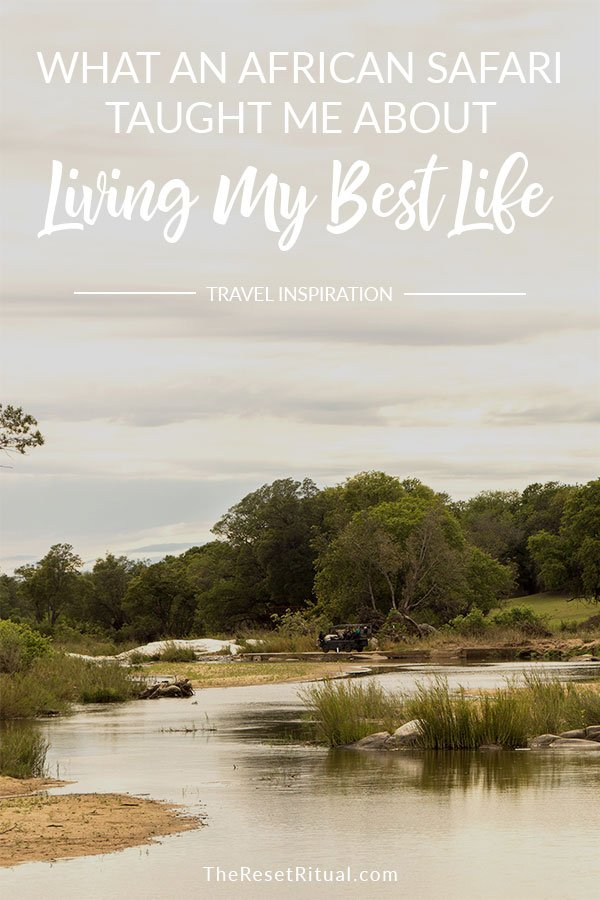 There's a reason why an African safari is on so many bucket lists. It's an incredible experience. Not just for seeing wildlife, but getting a fresh, inspiring perspective on life itself. Click to read what an African safari taught me about living my best life. #africa #safari #personaldevelopment #inspiring #travelstory #lifelessons