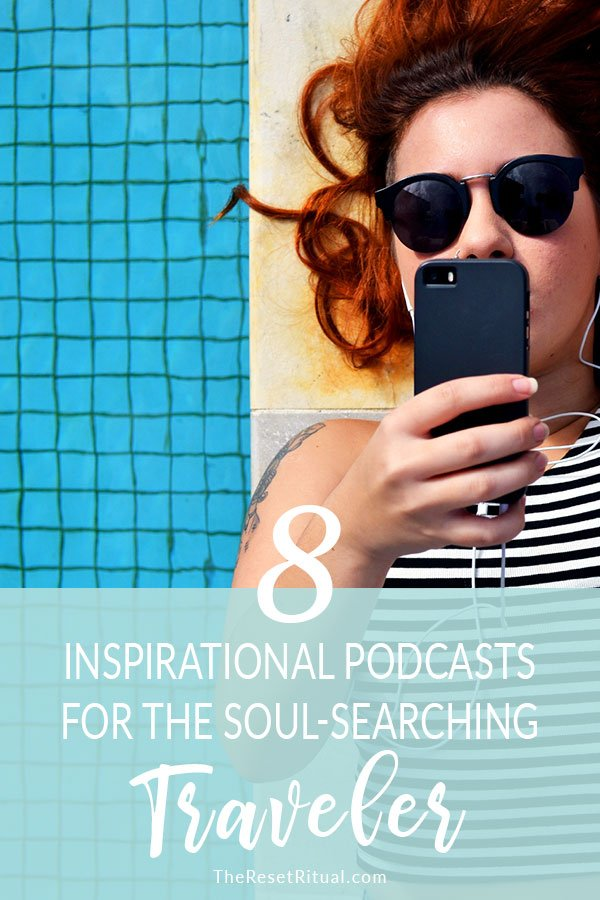 8 best motivational podcasts for soul-searching travel. Get inspired to live your best life on your next trip with podcasts on mindfulness, minimalism, slow living, personal development, productivity, happiness and more.