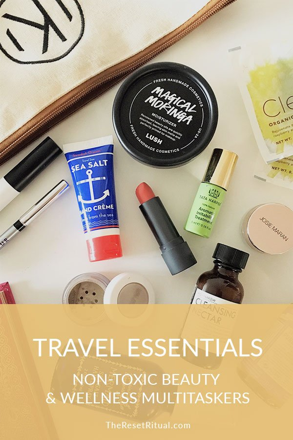 Travel Essentials: Nontoxic beauty + wellness multitaskers. These travel products are perfect for packing light and traveling well.