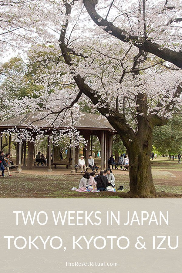 Two-week Japan itinerary: A slow travel approach to Tokyo, Izu, and Kyoto.