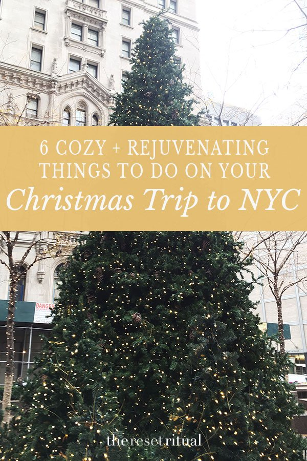 Planning an NYC Christmas trip? While New York is a magical holiday travel destination, it can get overwhelming pretty quick. Here are 6 holiday-inspired things to do in NYC that will reinvigorate your holiday cheer.
