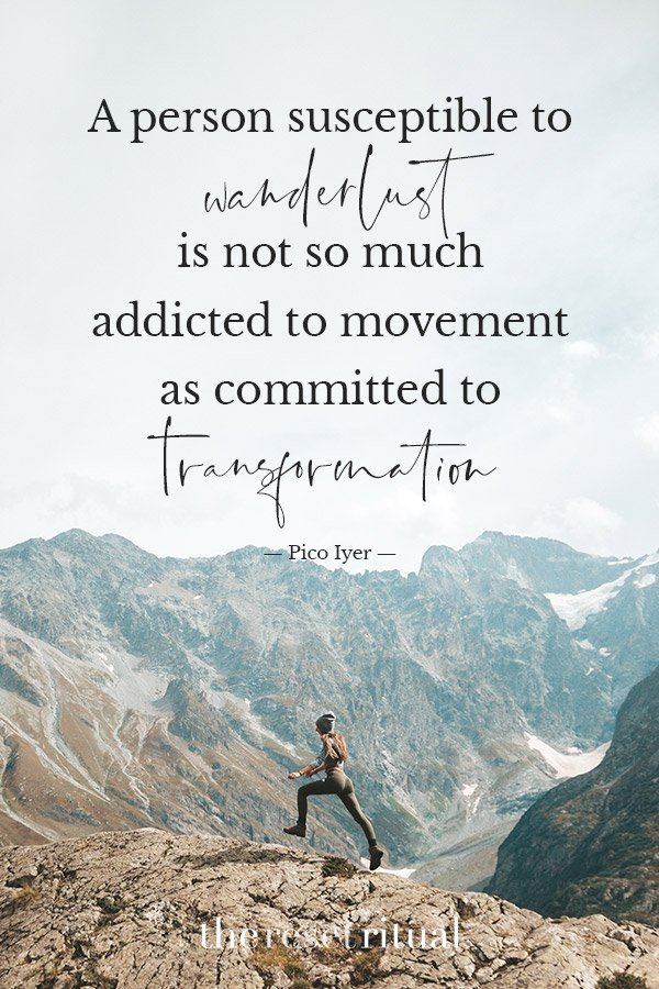 woman running on mountain top adventure quote