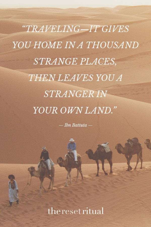 Camels in desert adventure quote