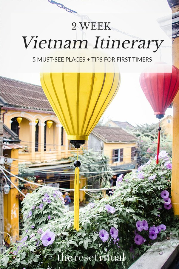 Two Week Vietnam Itinerary | Discover the must-see cities in Vietnam plus what to do on your first trip to this beautiful country. From the stunning limestone karsts in Ha Long Bay to the chaos of Hanoi and the charm of Hoi An, Vietnam deserves a spot on your Southeast Asia bucket list. #southeastasia #vietnam #travelitinerary #travel
