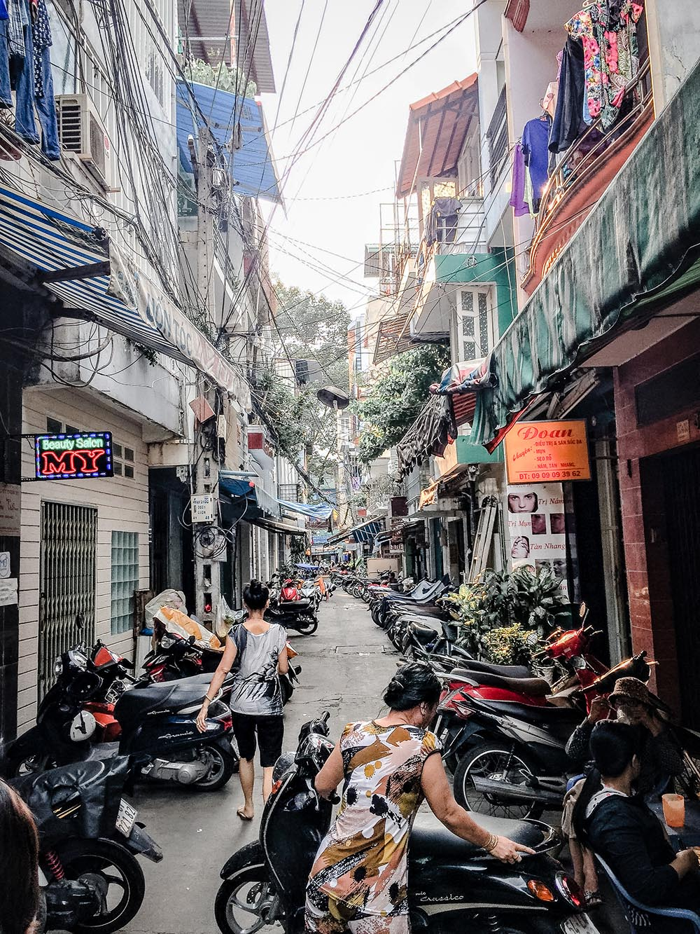 Side street with motorbikes