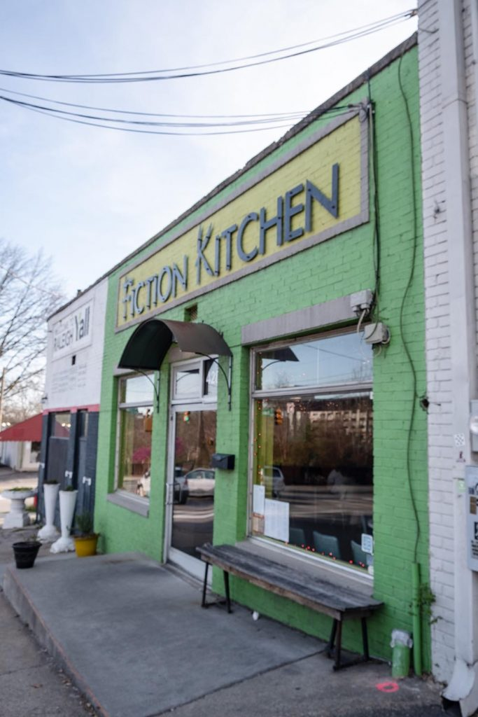 Outside Fiction Kitchen in downtown Raleigh, NC