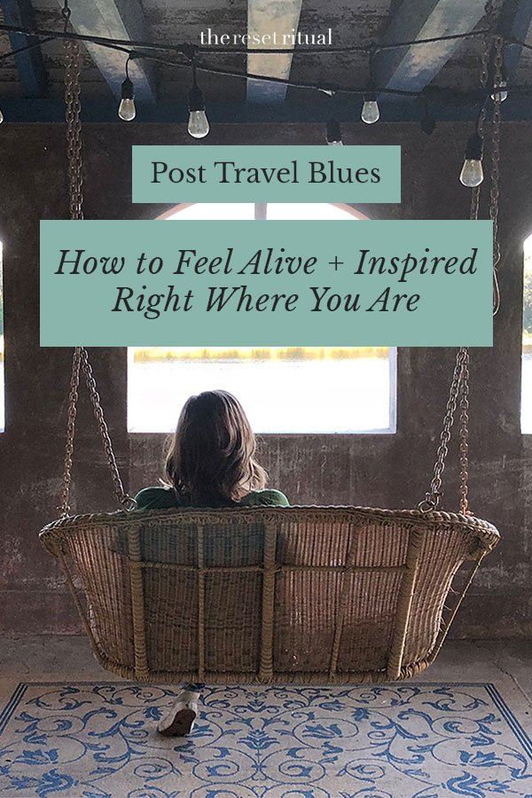 Post travel blues can be hard to beat, but trust that there is a way to feel alive and inspired again by your home town. #traveltips #wellbeing #stayinspired