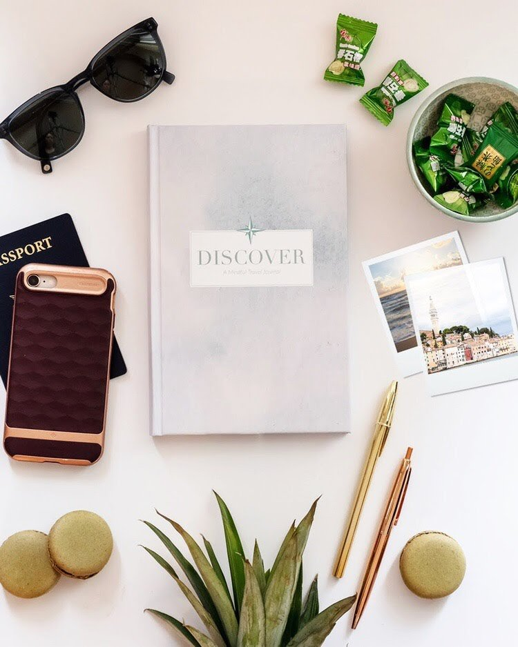 Journal with travel accessories